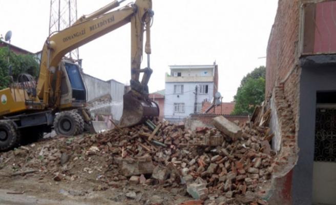 Bursa'da85 metruk bina yıkıldı!