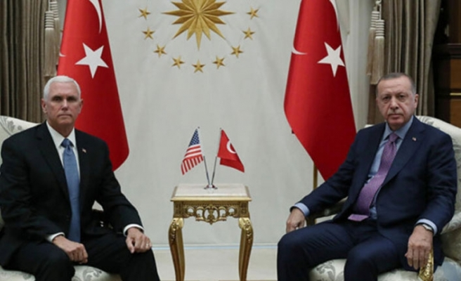 Erdoğan ile Pence'in görüşmesi başladı