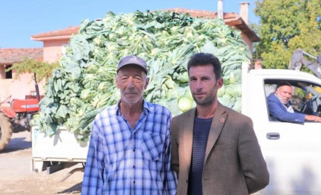 Karnabahar tarlada 3 lira, pazarda 7 lira