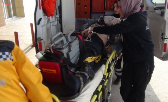Bursa'da talihsiz işçi metrelerce yükseklikten düştü!