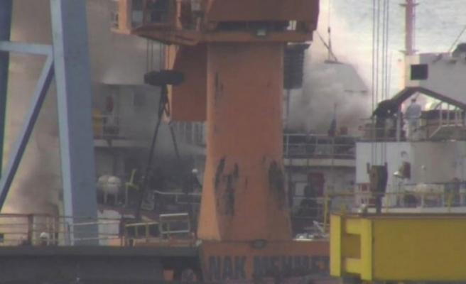 Kuru yük gemisinde yangın!