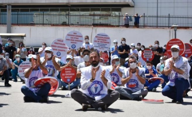 Bursa'da eylem var! Yüksek İhtisas Eğitim ve Araştırma Hastanesi'nde...