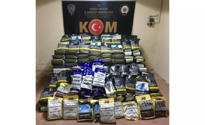 Bursa'da 186 kilo bandrolsüz tütün ele geçirildi