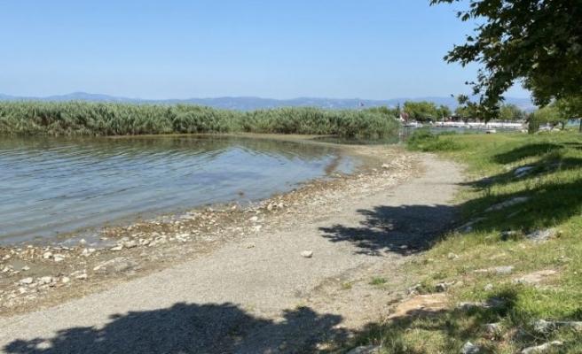 Bursa İznik Gölü'nde korkutan görüntü
