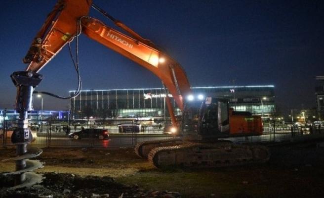Bursa T2'de gece gündüz çalışma devam ediyor