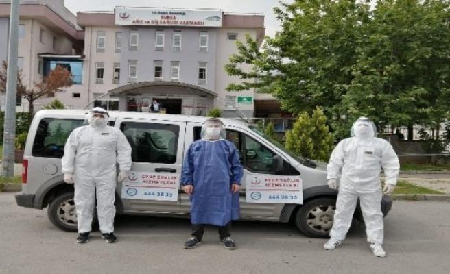 Bursa'da evde sağlık hizmetleri pandemi sürecinde de sürüyor