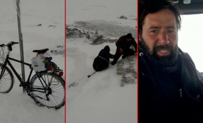 Yol kenarında bıraktığı bisiklet hayatını kurtardı!