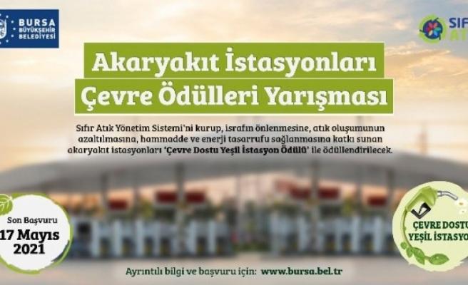 Bursa'da akaryakıt istasyonları çevre için yarışıyor