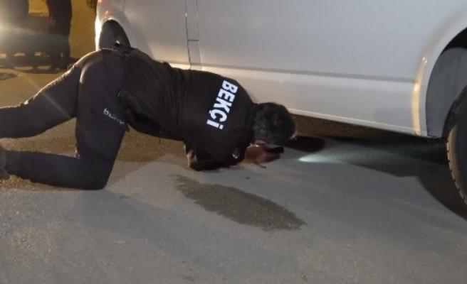 Bursa'da kamyonetin altında yakalandı!