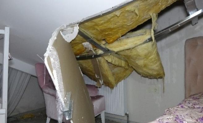 Bursa'da facianın eşiğinden dönüldü! Lüks sitenin çatısı çöktü!