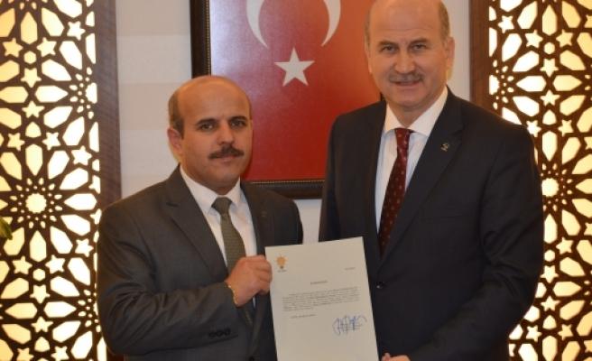 Ahmet Korkmaz mazbatasını aldı