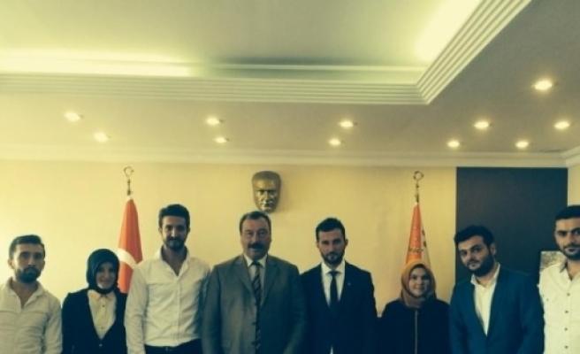 Ak Parti Gençlik Kollarından Emniyet Müdürü Osman Ak'a Ziyaret