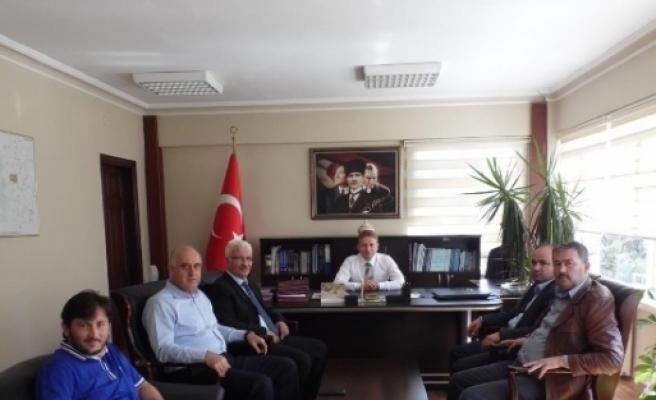 Ak Parti Korkuteli Heyeti, Kaymakam Tanrıkulu'nu Ziyaret Etti