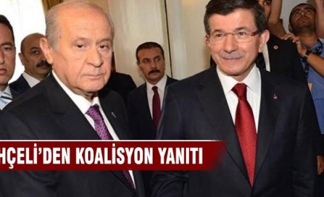 Bahçeli'den Davutoğlu'na koalisyon yanıtı