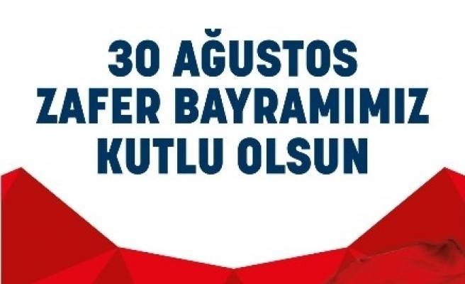 Başkan Alıcık'ın 30 Ağustos Zafer Bayramı Kutlama Mesajı