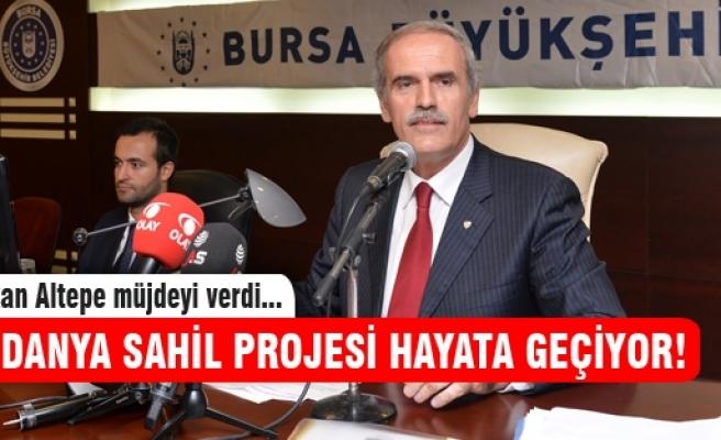 Başkan Altepe'den Mudanyalılara sahil müjdesi