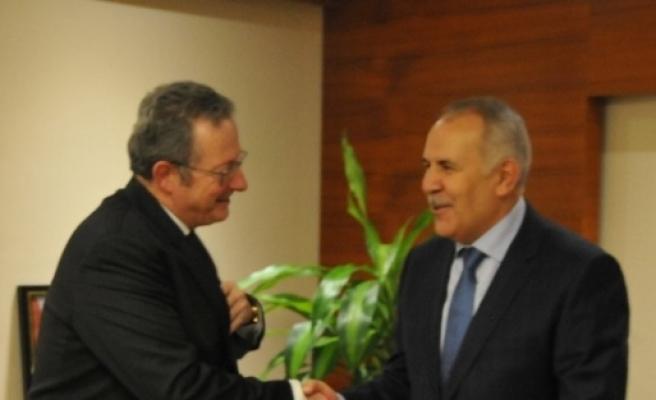 Belçika'nın Ankara Büyükelçisi Vali Ata'yı Ziyaret Etti