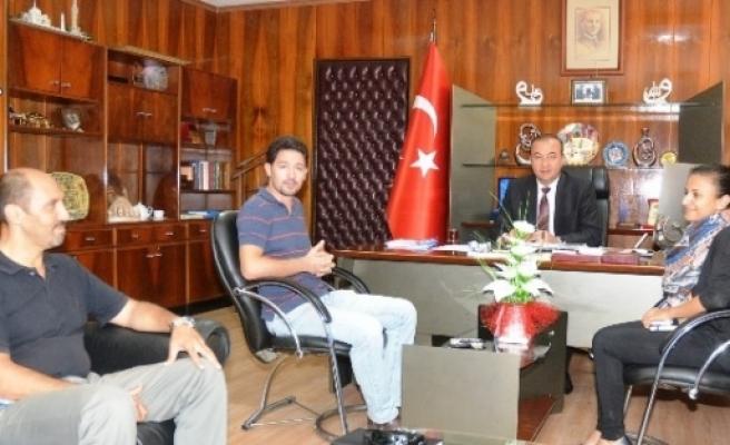Bmmyk Saha Çalişanlari Başkan Öztürk'ü Ziyaret Etti