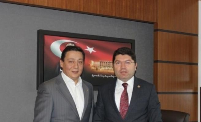 Btso Başkanı Çakir, Milletvekili Tunç'u Tbmm'de Ziyaret Etti