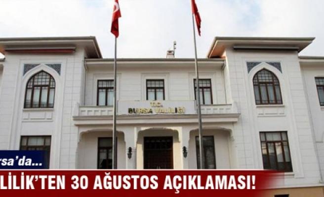 Bursa'da 30 Ağustos resepsiyonu olacak mı?
