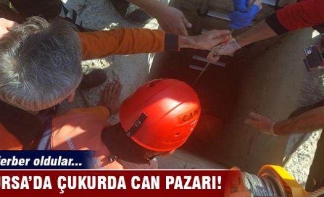 Bursa'da 5 metrelik çukurda can pazarı