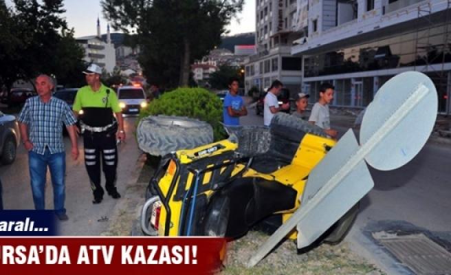 Bursa'da ATV takla attı: 1 yaralı