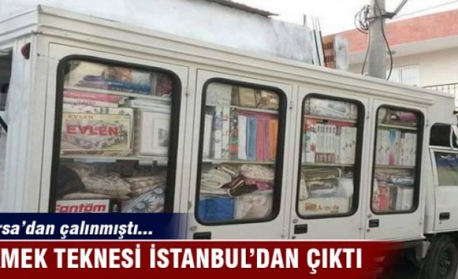 Bursa'da çalınan ekmek teknesi İstanbul'da bulundu