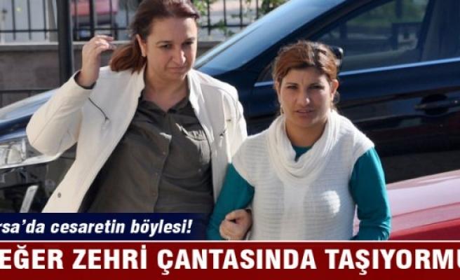 Bursa'da çantanın içindeki zehir!