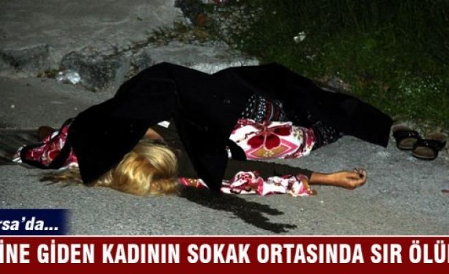 Bursa'da evine giden kadının sokak ortasında sır ölümü