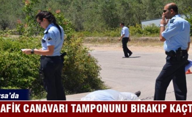 Bursa'da motosiklet sürücüsüne çarpan trafik canavarı kaçtı