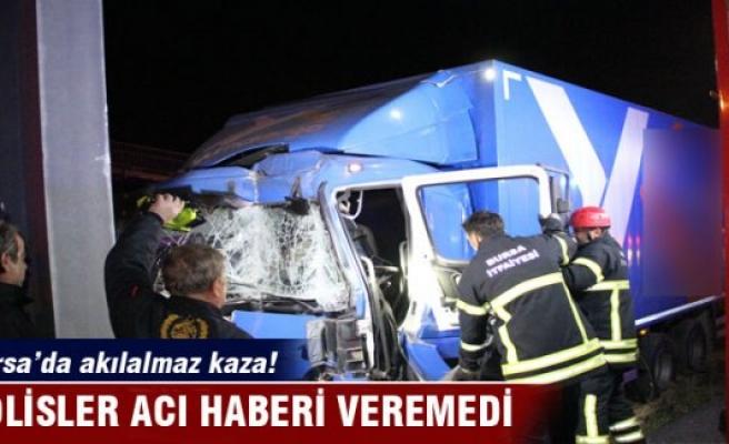 Bursa'da polisler acı haberi veremedi