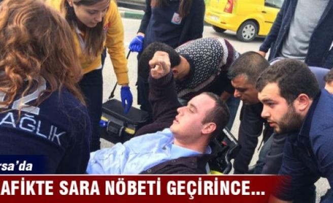 Bursa'da sürücüsü sara nöbeti geçiren minibüs duvara çarptı