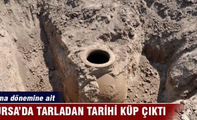 Bursa'da tarladan tarihî küp çıktı