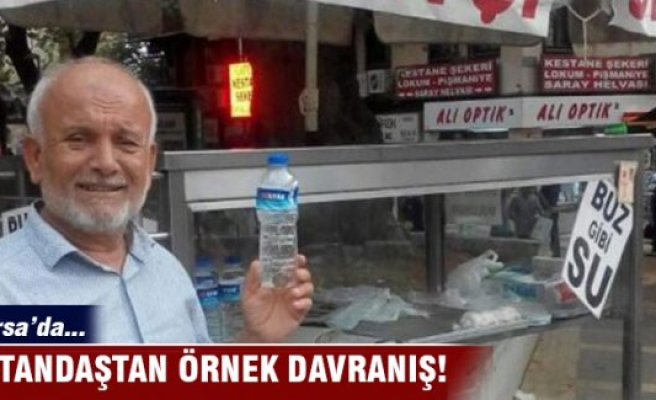 Bursa'da vatandaştan örnek davranış