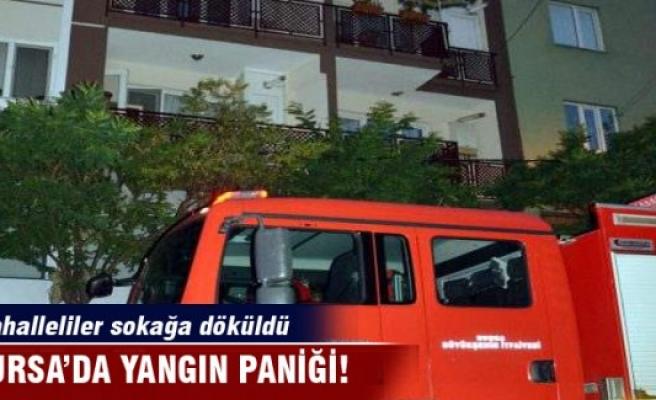 Bursa'da yangın mahallelileri sokağa döktü