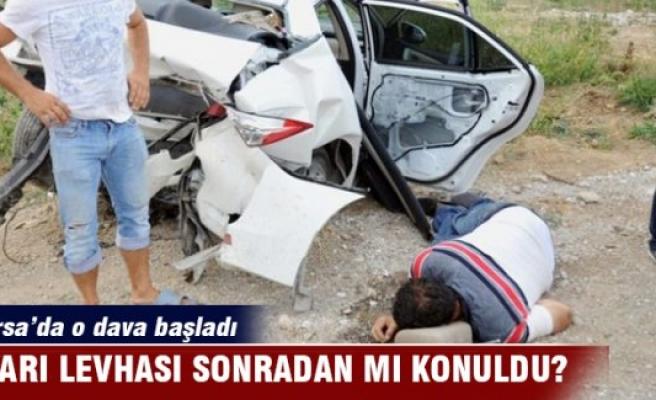 Bursa'da yol çalışması can almıştı! Dava başladı