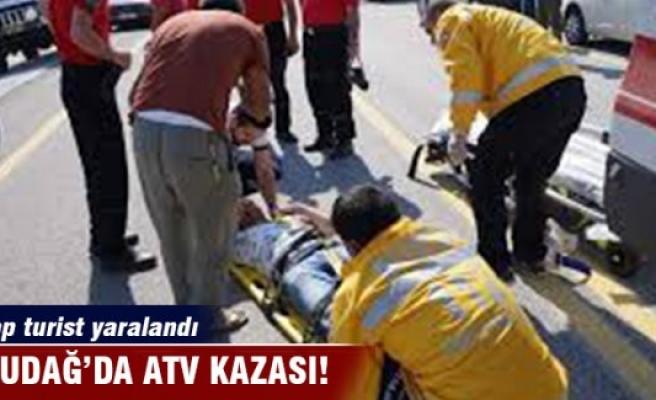 Uludağ'da ATV kazası: Arap turist yaralandı