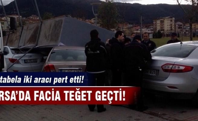 Bursa'da facia teğet geçti!