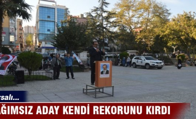Bursalı Bağımsız Milletvekili adayı kendi rekorunu kırdı