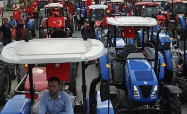 Bursalı çiftçilerden tepki konvoyu