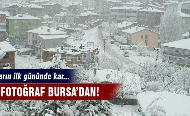 Bursa'ya kar sürprizi