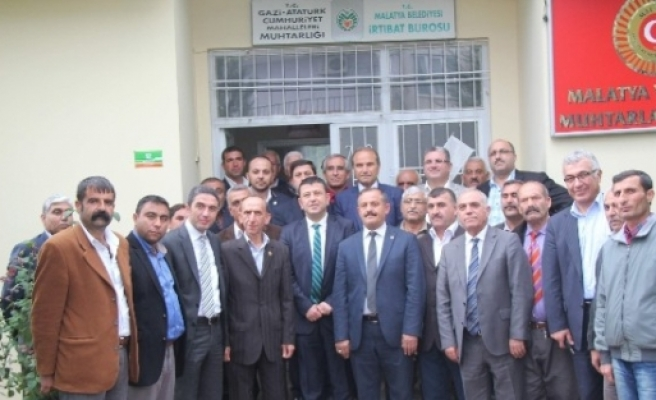 Chp Heyeti,  Muhtarlar Derneği'ni Ziyaret Etti