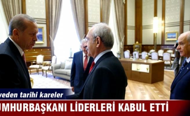 Cumhurbaşkanı Erdoğan'ın liderleri kabulü