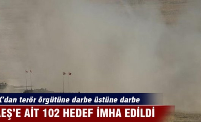 DAEŞ'e ait 102 hedef 416 atışla imha edildi