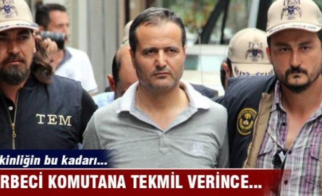 Darbeci Bursa Jandarma Alay Komutanı Akkuş'a tekmil verince...