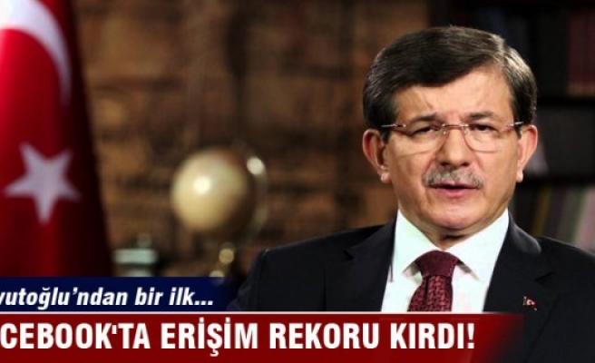 Davutoğlu Facebook'ta erişim rekoru kırdı