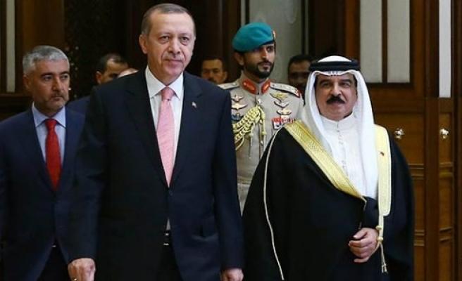 Erdoğan, Bahreyn Kralı'nı resmi törenle karşıladı
