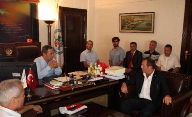 Ereğli'de Oda Başkanları Uysal'ı Ziyaret Etti