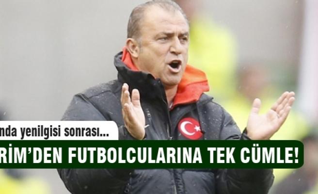 Fatih Terim'den futbolcularına tek cümle!
