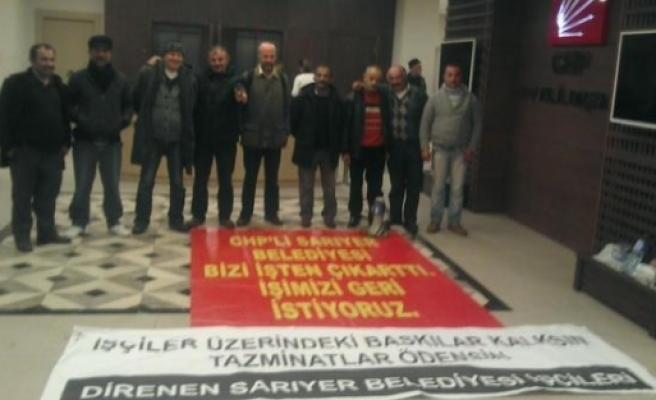 İşçiler CHP binasını bastı!